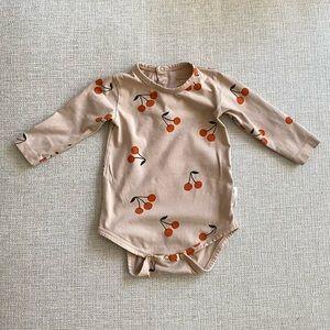 Tiny cotton cherry onesie 🍒